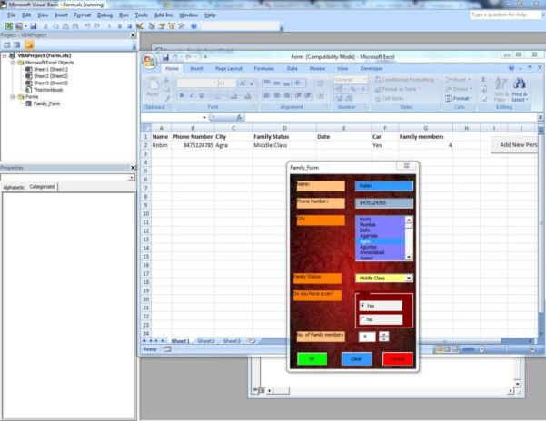 Create A Form In Excel To Populate A Spreadsheet With Make Your Own Guigraphical User Interface Without Visual Studio In