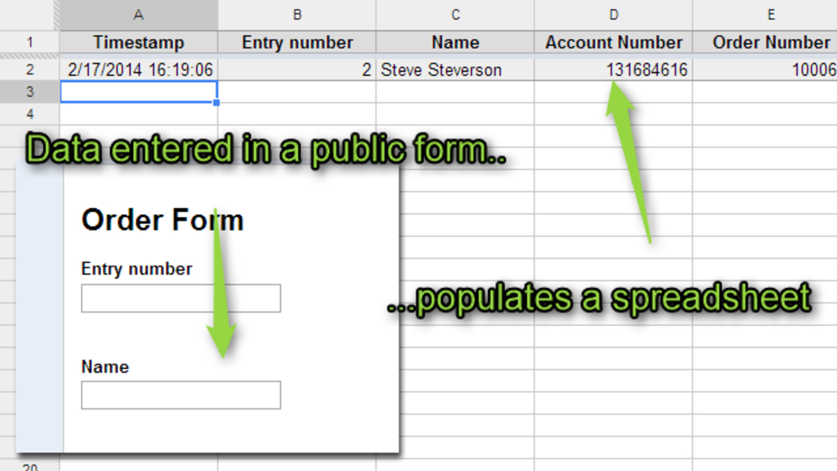 Create A Form In Excel To Populate A Spreadsheet With Regard To Four Skills That Will Turn You Into A Spreadsheet Ninja