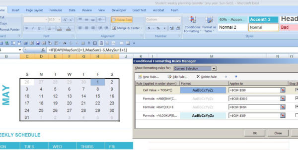 Create Calendar From Excel Spreadsheet Data With Dynamic Monthly Excel Calendar  Super User Create Calendar From Excel Spreadsheet Data Google Spreadsheet