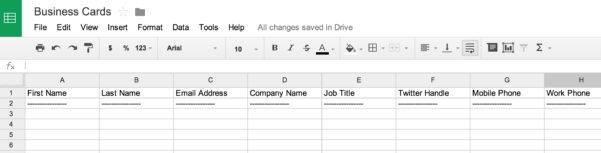 Create Excel Spreadsheet Pertaining To How To Scan Business Cards Into A Spreadsheet