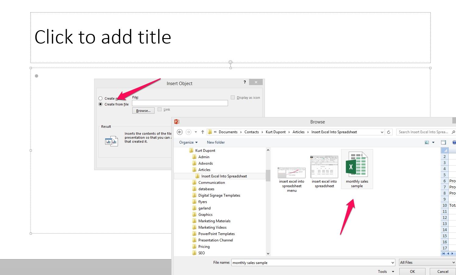 Create Excel Spreadsheet Regarding Insert Excel Spreadsheet Into Powerpoint