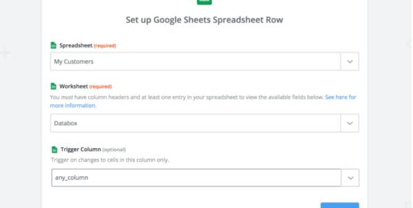 Create Google Doc Spreadsheet Throughout Guide: Using Google Sheets Through Zapier  Databox Help Desk