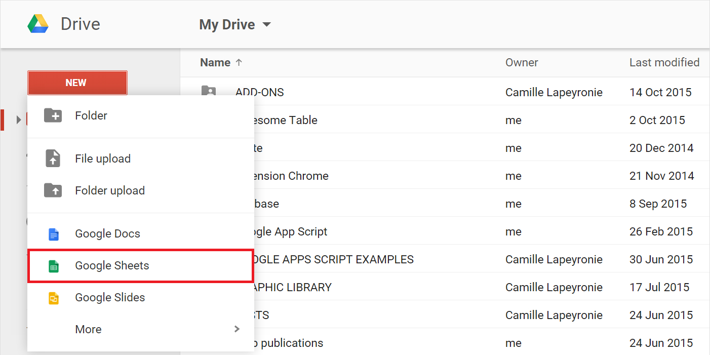 Create Google Spreadsheet For Create And Fill A Google Sheet – Documentation  Awesome Table Support