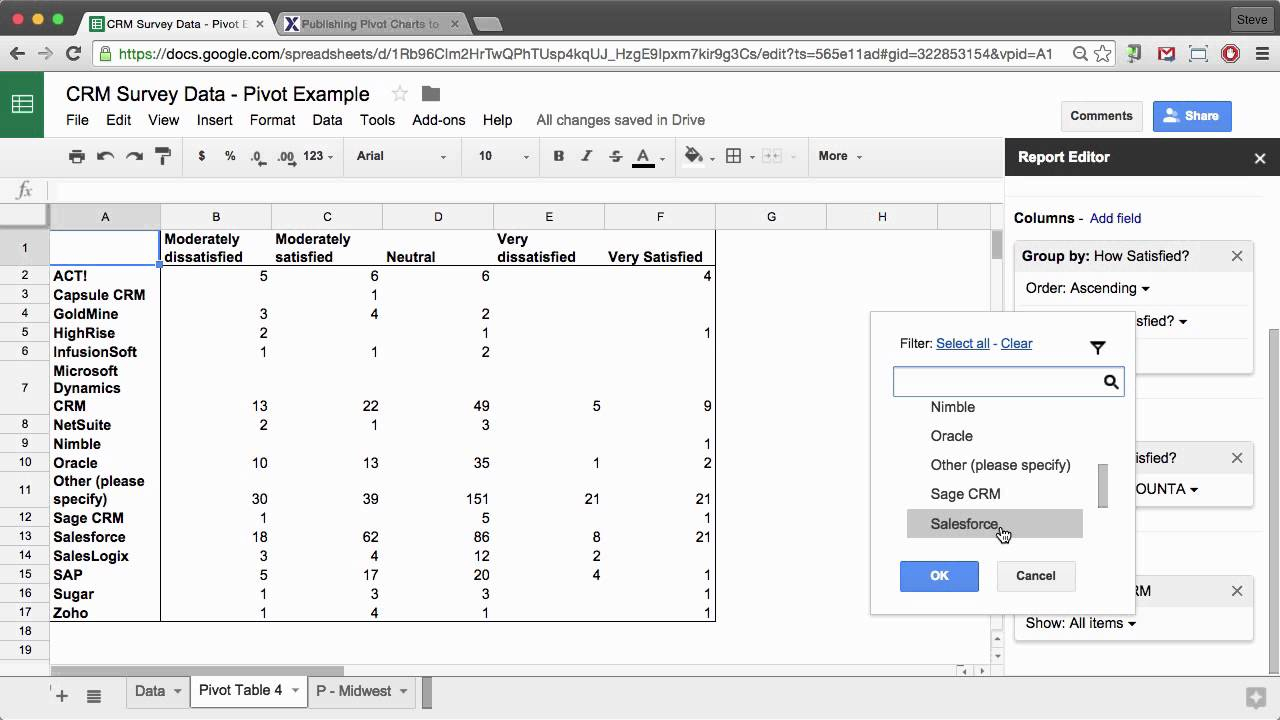 Create Google Spreadsheet In How To Create A Pivot Table In Google Sheets