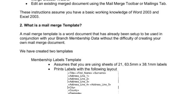 Create Labels From Excel Spreadsheet Intended For How To Create Labels And Other Word Documents Using Mail  Pages 1