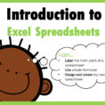 Create My Own Spreadsheet With Regard To Introduction To Excel Spreadsheets I Can…  Ppt Download
