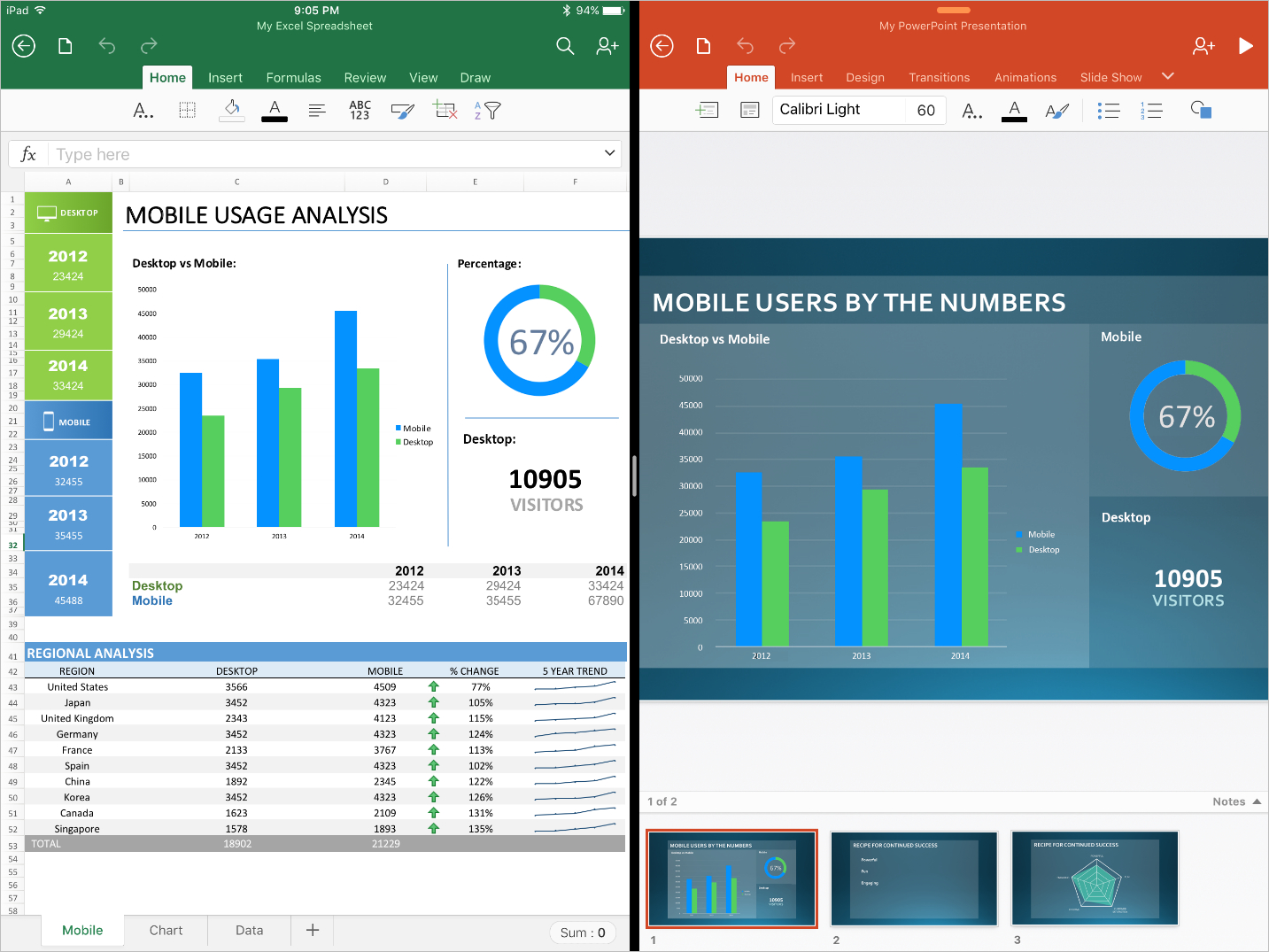Create Spreadsheet On Ipad With Microsoft Office Apps Are Ready For The Ipad Pro  Microsoft 365 Blog