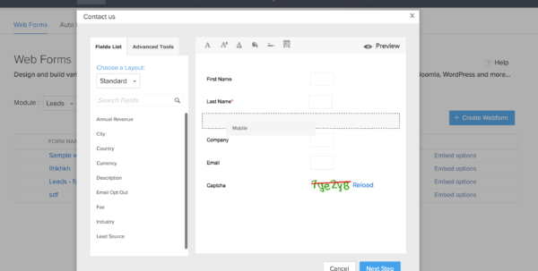 Create Web Form From Excel Spreadsheet For Web Forms For Lead Generation  Zoho Crm