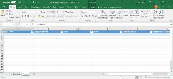 Create Web Form From Excel Spreadsheet Intended For Use Microsoft Forms To Collect Data Right Into Your Excel File