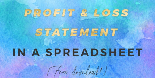 Create Your Own Spreadsheet Free For How To Create A Basic Profit  Loss Statement Free Download  The Create Your Own Spreadsheet Free Payment Spreadsheet