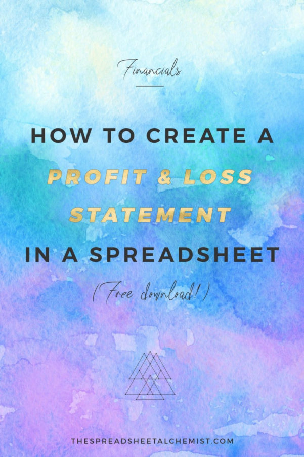 Create Your Own Spreadsheet Free For How To Create A Basic Profit  Loss Statement Free Download  The
