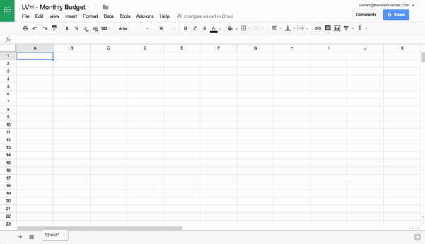 Creating A Budget Spreadsheet Within How To Make Simple Budget Sheet Creating Worksheet Spreadsheet For