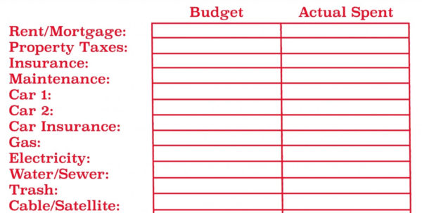 Creating A Family Budget Spreadsheet Within Household Bills Spreadsheet  Resourcesaver