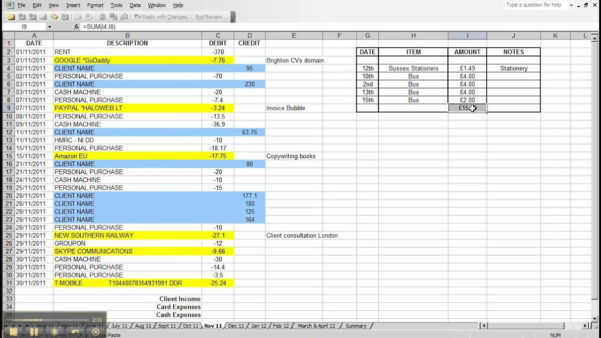 Creating A Spreadsheet For Bills Intended For How To Create An Expense Spreadsheet In Excel  Aljererlotgd