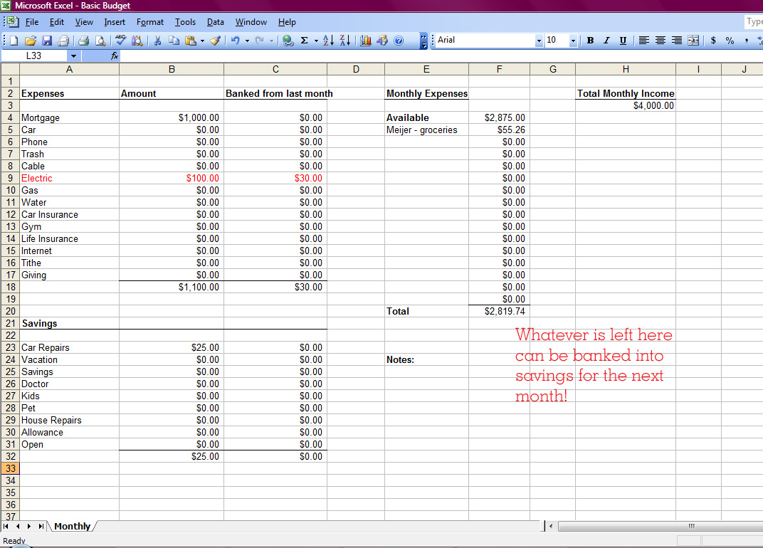Creating A Spreadsheet For Bills Pertaining To Create A Spreadsheet For Bills  Resourcesaver