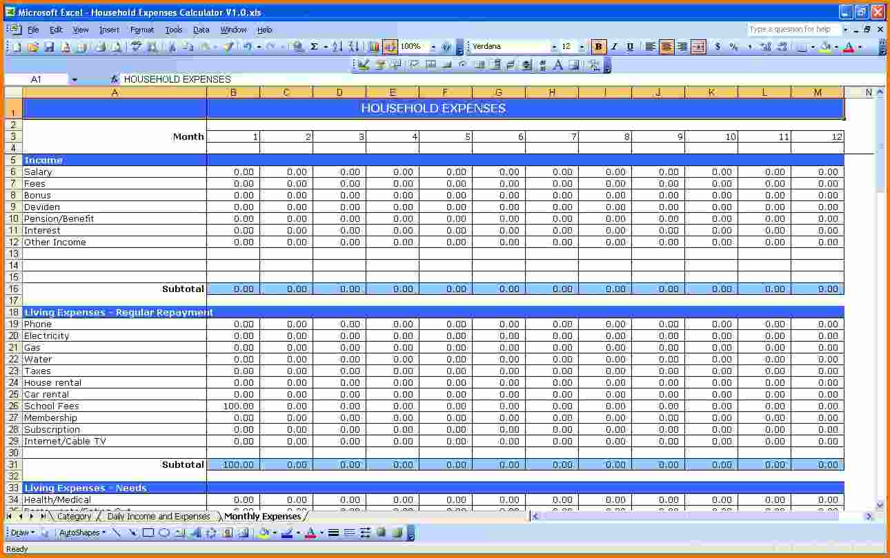 Creating A Spreadsheet For Expenses With Business Spreadsheet Excel Spreadsheets Templates Income And Expense