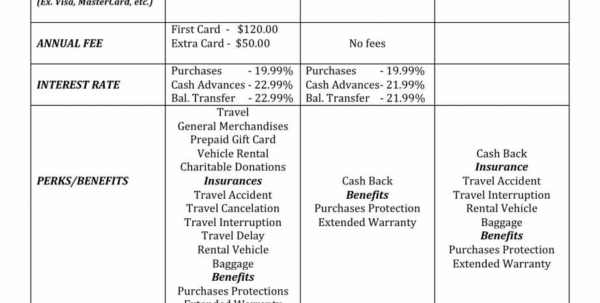 Credit Card Comparison Spreadsheet Within College Comparison Spreadsheet Free Worksheets Library Download And