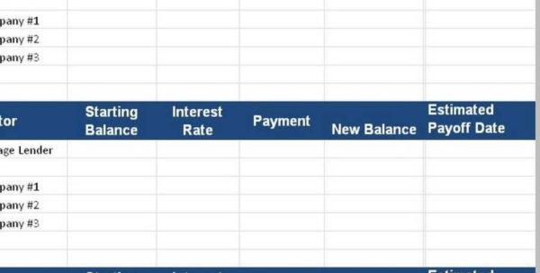 Credit Card Debt Management Spreadsheet Intended For Credit Card Payoff Spreadsheet Inside Debt Management Spreadsheet