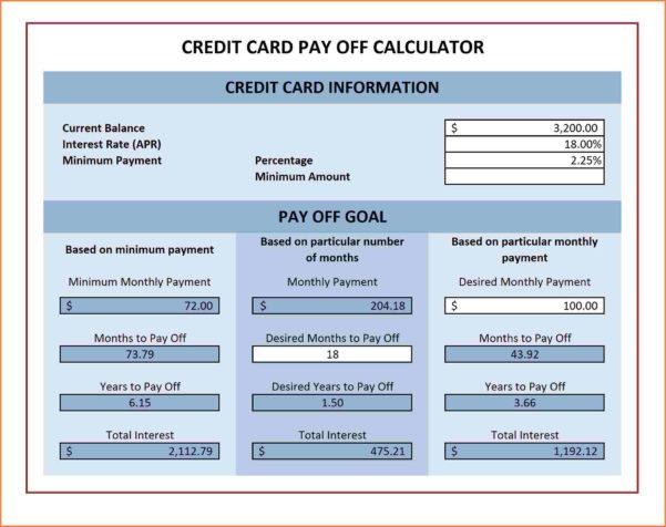 Credit Card Repayment Calculator Spreadsheet In Multiple Credit Card Payoff Calculator Spreadsheet  My Spreadsheet