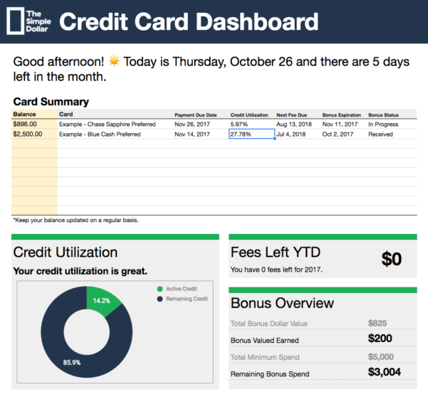Credit Card Tracking Spreadsheet With Regard To The Tsd Credit Card Tracker