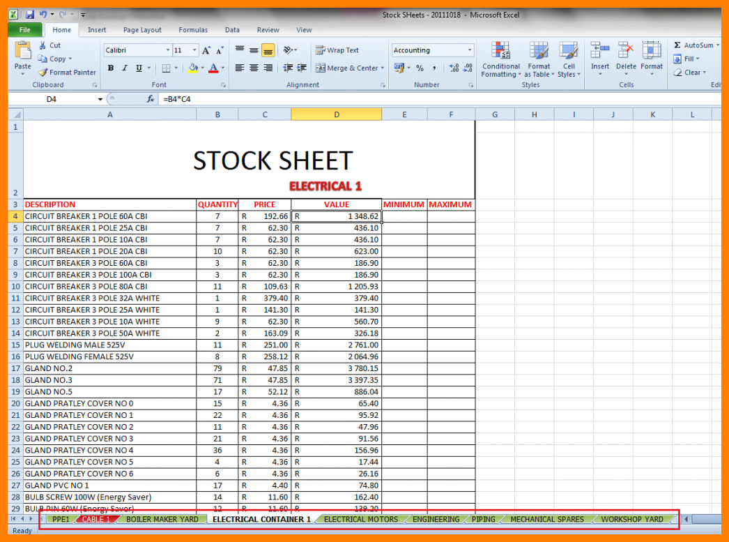 Credit Control Excel Spreadsheet Within 7  Inventory Control Excel Spreadsheet  Credit Spreadsheet