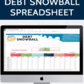 Credit Snowball Spreadsheet Intended For Debt Snowball Spreadsheet » One Beautiful Home