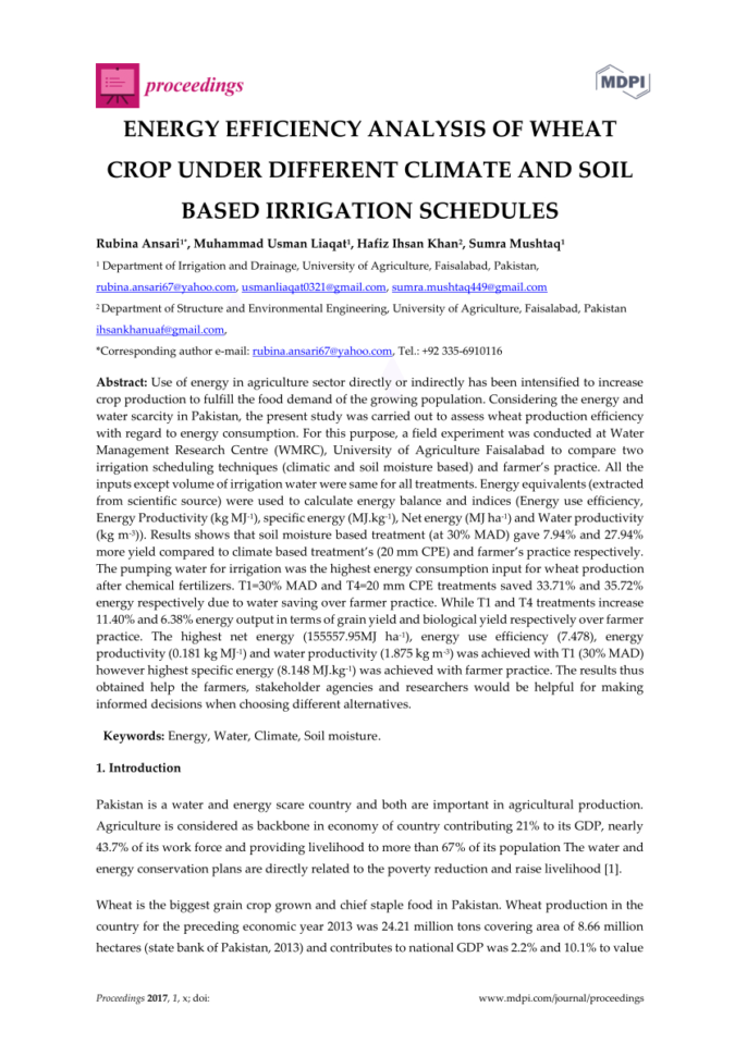Crop Production Cost Spreadsheet Inside Economical Analysis And Relation Between Energy Inputs And Yield Of