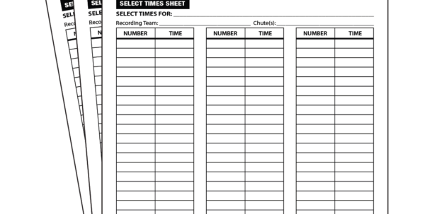 Cross Country Scoring Spreadsheet Pertaining To Scoring Supplies  Rainbow Racing Systems