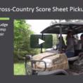 Cross Country Scoring Spreadsheet With Crosscountry Score Sheet Pickup On Vimeo