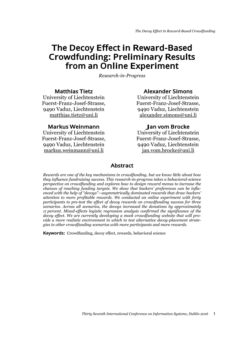 Crowdfunding Comparison Spreadsheet Inside Pdf Approach For Investigating Crowdfunding Campaigns With Platform
