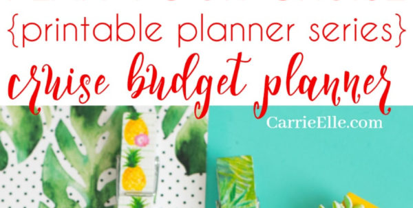 Cruise Budget Spreadsheet Inside Cruising On A Budget  Printable Cruise Budget Planner  Carrie Elle