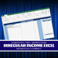 Cruise Budget Spreadsheet Pertaining To Irregular Income Worksheet Excel Budget Worksheet  Etsy