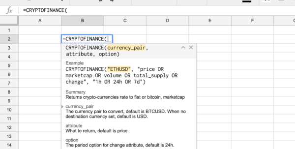 Cryptocurrency Excel Spreadsheet Intended For Import All Live Cryptocurrency Data Into A Spreadsheet In 5 Minutes