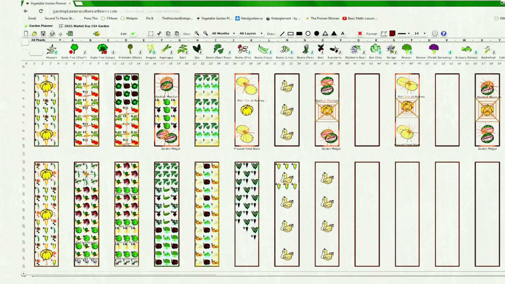 Csa Planning Spreadsheet Regarding Vegetable Garden Layout Ohio The Plans And  Yard Landscaping Ideas