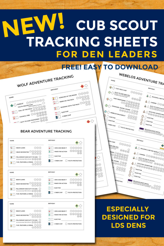 Cub Scout Requirements Spreadsheet Intended For New Cub Scout Tracking Sheets Especially For Lds Dens – The Gospel Home