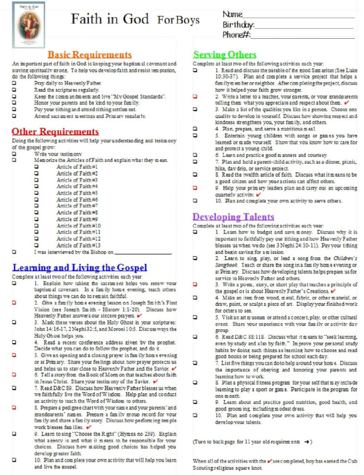 Cub Scout Requirements Spreadsheet Throughout Ideas Collection New Cub Scout Belt Loops Worksheets With Cub Scout