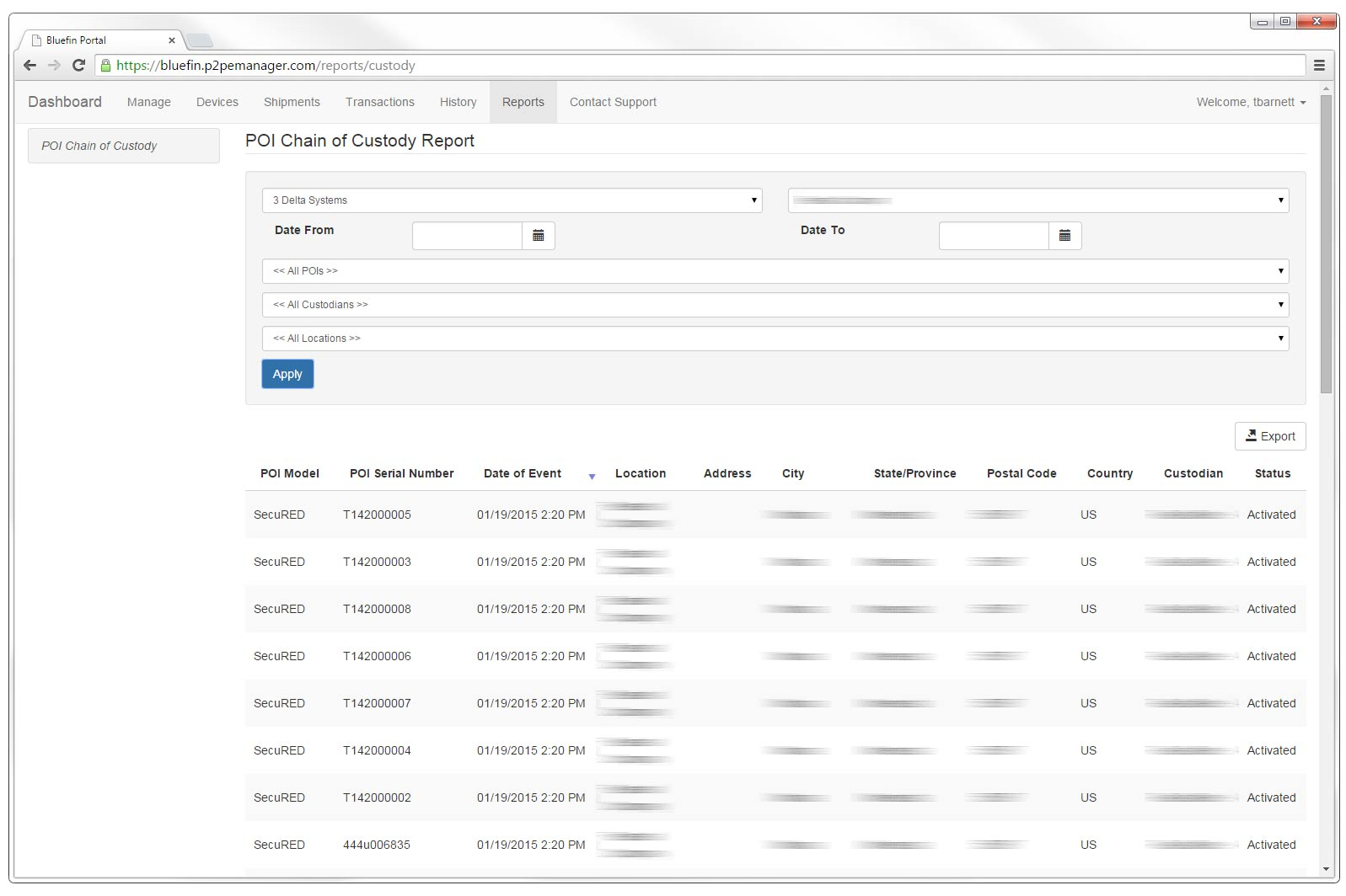 Custody Tracking Spreadsheet Pertaining To P2Pe Manager For Chain Of Custody Management