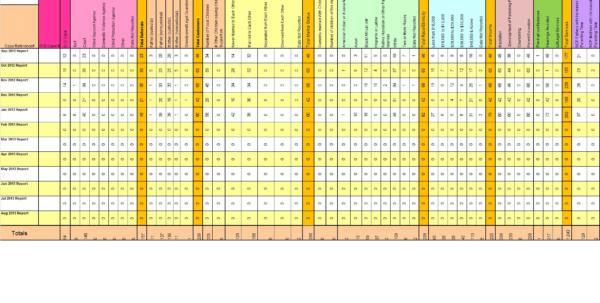 Custody Tracking Spreadsheet With Author: Protective Parents Coalition  Protective Parents Coalition