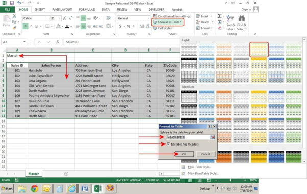 Customer Database Spreadsheet Regarding How To Create Relational Databases In Excel 2013  Pcworld