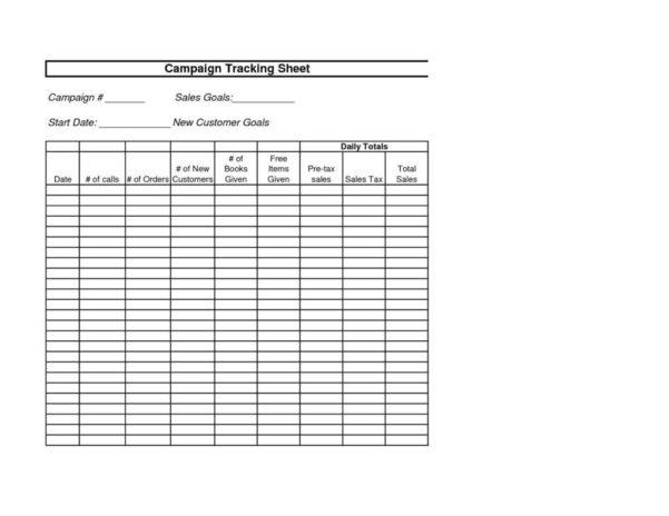 Customer Order Tracking Spreadsheet For Sales Call Tracking Sheet Template Excel Spreadsheet