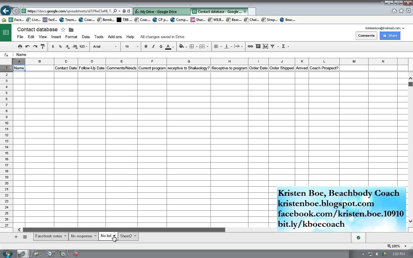 Customer Spreadsheet For Tracking Beachbody Customers Leads Form Invite And Follow Up