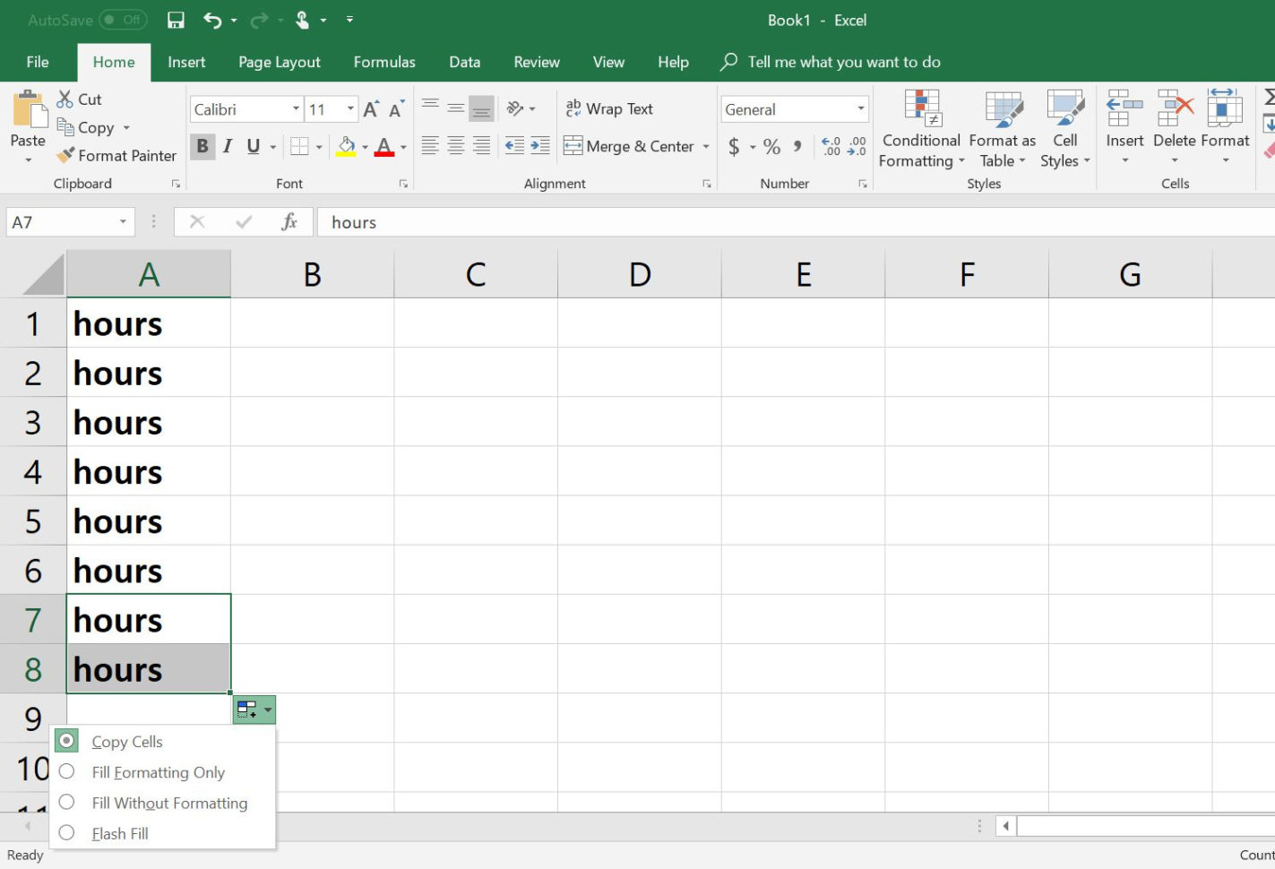 Cut And Fill Excel Spreadsheet Pertaining To How To Copy Formulas And Data With Excel's Fill Handle