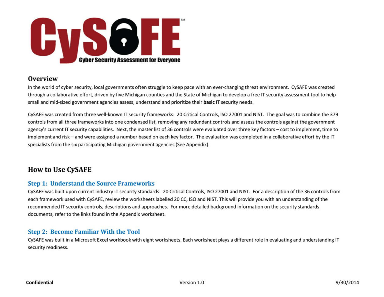 Cybersecurity Assessment Tool Spreadsheet Within Cysafe Vendor Sampledistilledinfo  Issuu