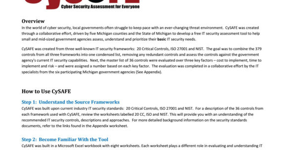 Cybersecurity Assessment Tool Spreadsheet Within Cysafe Vendor Sampledistilledinfo  Issuu Cybersecurity Assessment Tool Spreadsheet Spreadsheet Download
