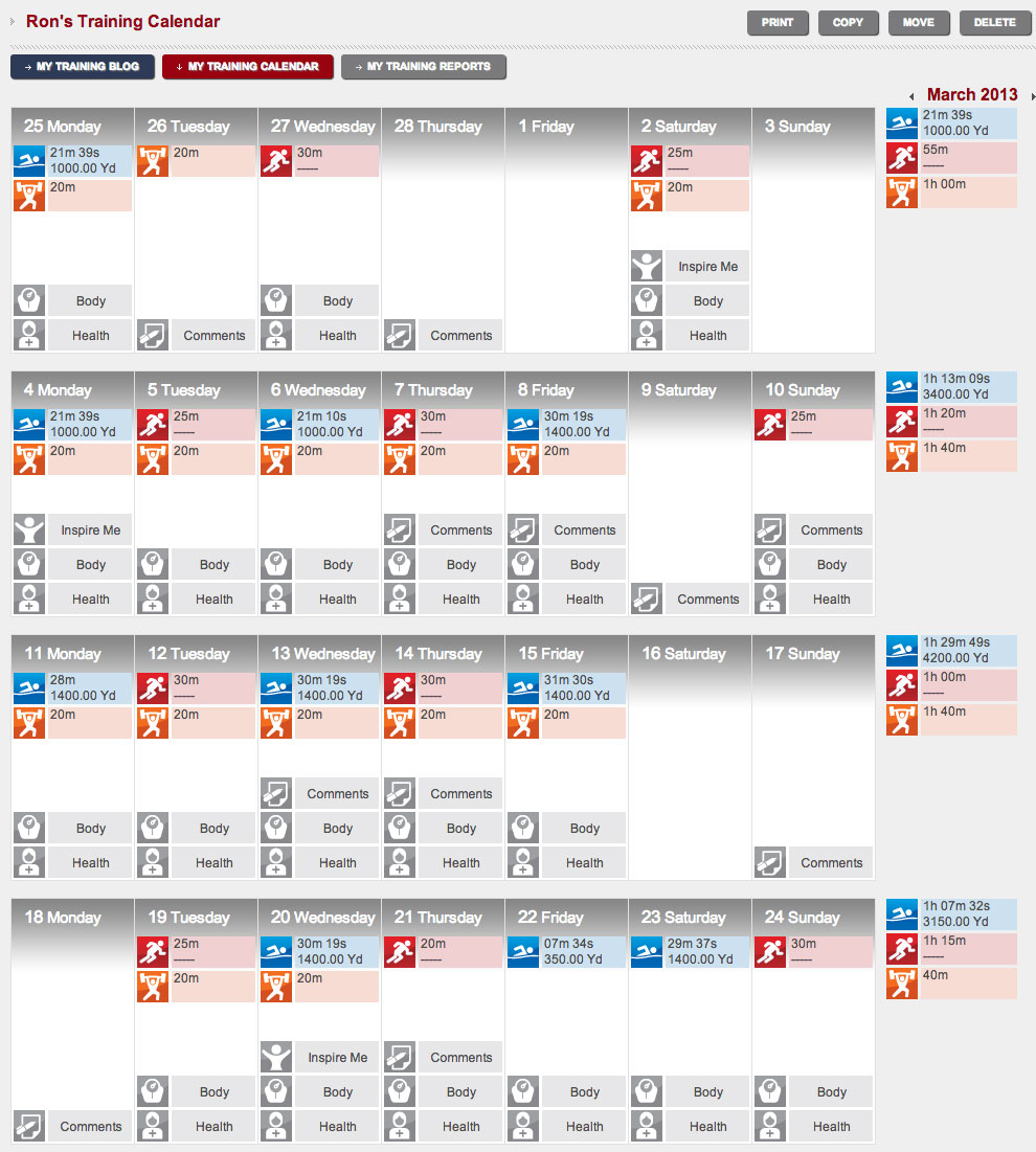Cycling Training Plan Spreadsheet With Setting Up Your Triathlon Training Log