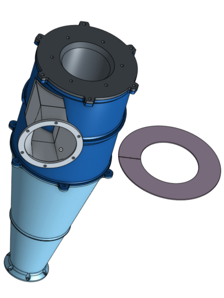 Cyclone Design Spreadsheet With Regard To Cyclone Separator  Pentz Designsmerrett79  Thingiverse