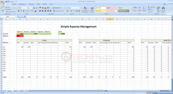 Daily Budget Excel Spreadsheet Pertaining To Spreadsheet Example Of Daily Budget Simple Expense Management