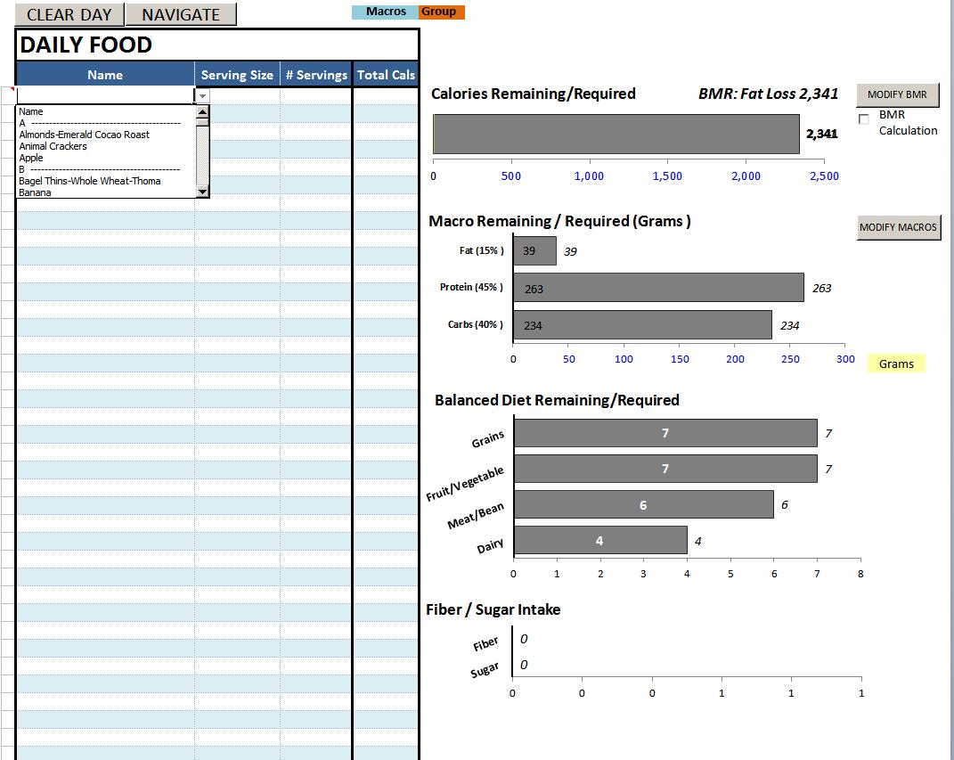 Daily Calories & Food Nutrition Excel Spreadsheet Calculator Inside Best Excel Sheet Diet Plan  Bodybuilding Forums