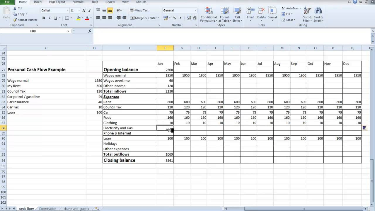 Daily Cash Flow Spreadsheet Template Inside Excel Spreadsheet Template For Small Business Cash Flow Excel