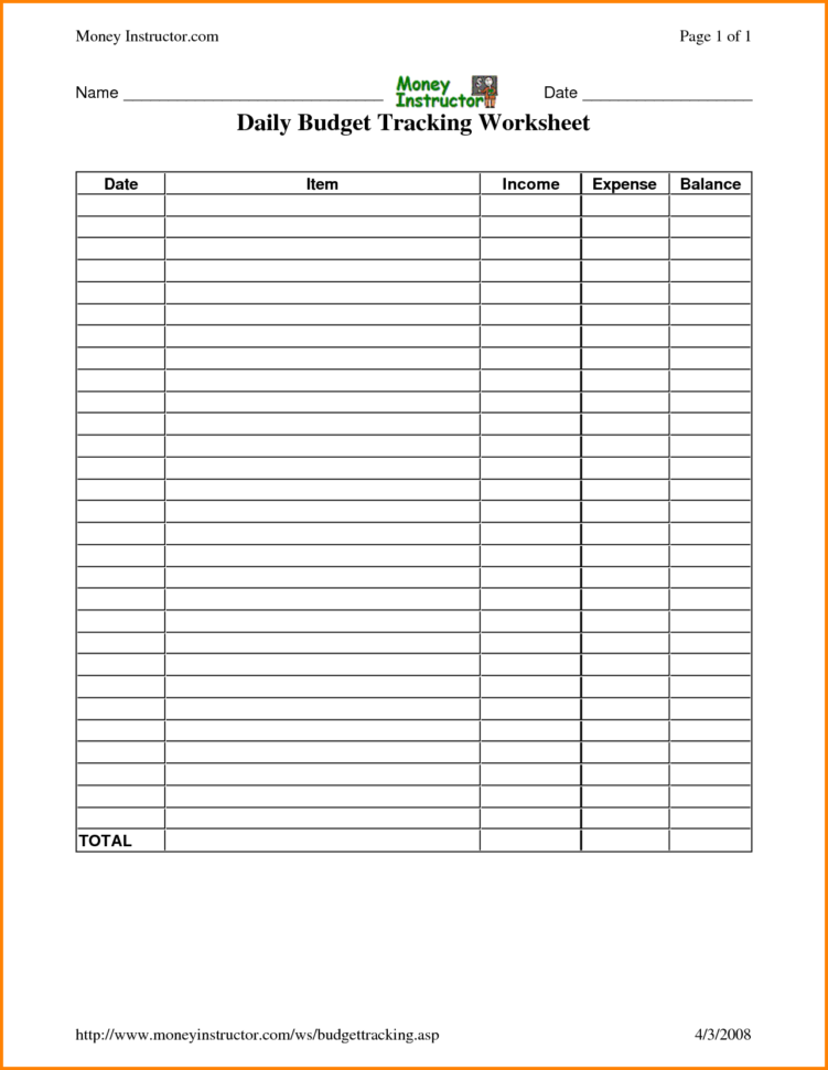 Daily Expenses Spreadsheet With Track Expenses Spreadsheet And Daily Bud Worksheet Worksheets